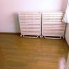 <寝室画像>すのこベッド。フローリング床に敷き布団→布団が湿気で結露してカビがはえるの対策